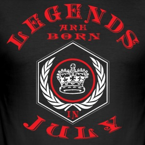 Legends juli født bursdagsgave fødsel - Slim Fit T-skjorte for menn