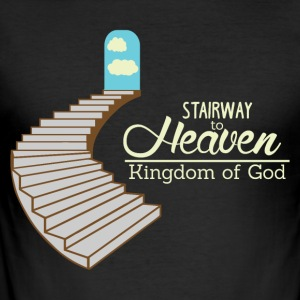 Stairway to Heaven - Gud Kongerige - Herre Slim Fit T-Shirt