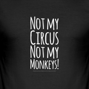 Monkey Circus - Männer Slim Fit T-Shirt