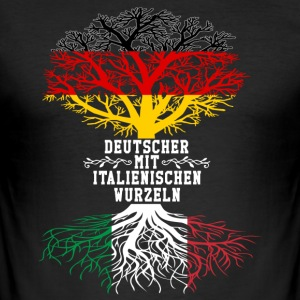 German with Italian roots - Men's Slim Fit T-Shirt