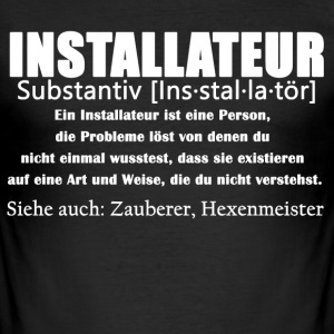 Installateur Definition Shirt - Männer Slim Fit T-Shirt