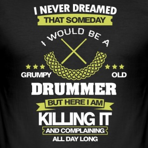 Drummer koele citaten - slim fit T-shirt