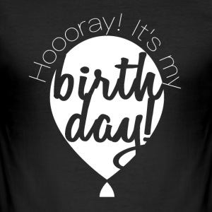Du kan melde deg, Ichhab BIRTHDAY - Slim Fit T-skjorte for menn