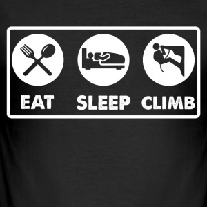 Eat Sleep Klatring - Slim Fit T-skjorte for menn