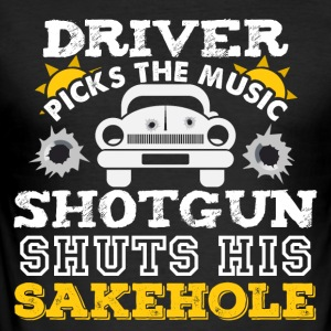 Driver chooses music - Men's Slim Fit T-Shirt