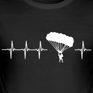I like paragliding (paragliding heartbeat) - Men's Slim Fit T-Shirt