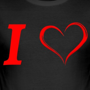 Jeg elsker Jeg elsker in Love - Herre Slim Fit T-Shirt