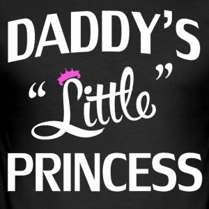 Papa lille prinsesse - Slim Fit T-skjorte for menn