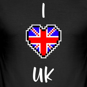 I love UK - Men's Slim Fit T-Shirt