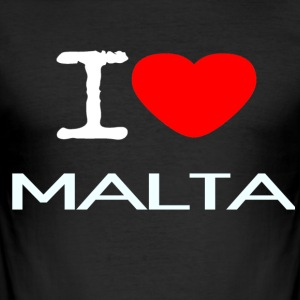 I LOVE MALTA - Men's Slim Fit T-Shirt