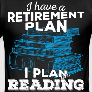 Retirement plan reading (hell) - Männer Slim Fit T-Shirt