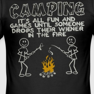 Camping it's all fun shirt - Men's Slim Fit T-Shirt