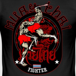 Muay Thai Fighter - Slim Fit T-shirt herr