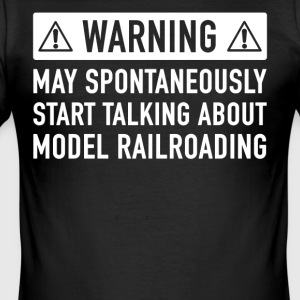 Roligt Modell Train present - Slim Fit T-shirt herr