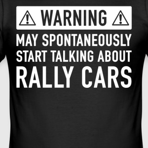 Rolig Rally Car present - Slim Fit T-shirt herr