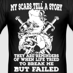 My scars tell a story (light) - Men's Slim Fit T-Shirt