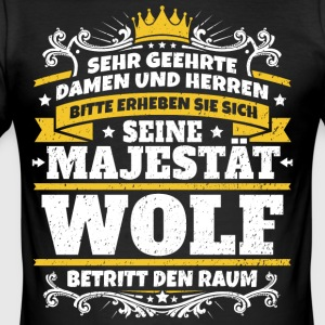 Hans Majestæt Wolf - Herre Slim Fit T-Shirt