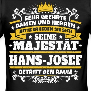 Hans Majestet Hans-Josef - Slim Fit T-skjorte for menn