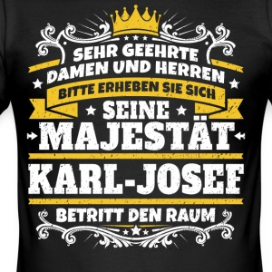 Hans Majestet Karl-Josef - Slim Fit T-skjorte for menn