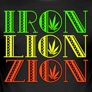 Iron Lion Zion - Men's Slim Fit T-Shirt