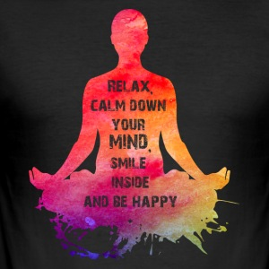 NAMASTE NEON - Slim Fit T-shirt herr
