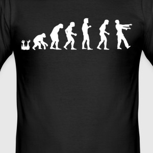 menneskelige evolution Zombie - Herre Slim Fit T-Shirt