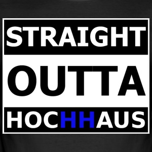 Straight Outta Hochhaus HAMBURG HH - Männer Slim Fit T-Shirt