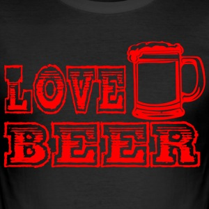 LOVE BEER rood - slim fit T-shirt