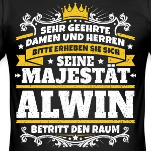 His Majesty Alwin - Men's Slim Fit T-Shirt
