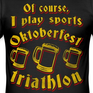 Triathlon Oktoberfest (øl drikking klær) - Slim Fit T-skjorte for menn