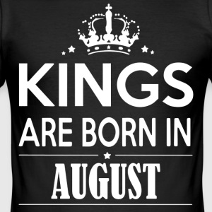 King Birthday August - Men's Slim Fit T-Shirt