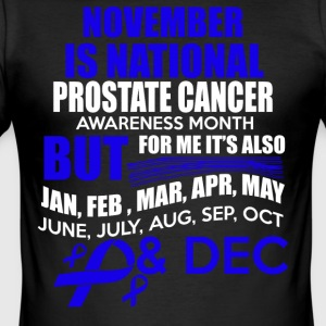 November er Prostate Cancer Awareness Month Design - Slim Fit T-skjorte for menn