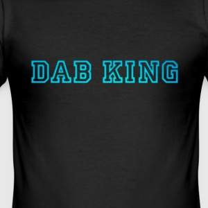 dab dabbing King Football touchdown cool fun sport - Männer Slim Fit T-Shirt