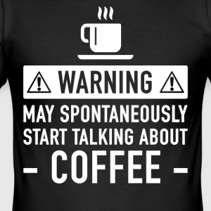 Funny Coffee Gift Idea - Men's Slim Fit T-Shirt