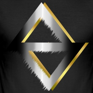 PKC> Triangle in zilver en goud - slim fit T-shirt