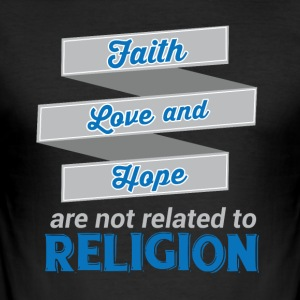 Tro Kærlighed Hope - Religion - Herre Slim Fit T-Shirt
