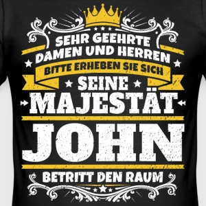 Hans Majestæt John - Herre Slim Fit T-Shirt