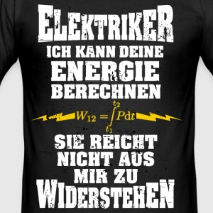 Electrician - I can calculate your energy - Men's Slim Fit T-Shirt