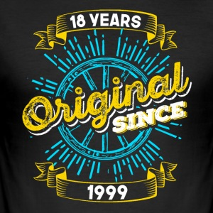 18e verjaardag in 1999 - slim fit T-shirt