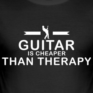 Guitar is cheaper than therapy - Men's Slim Fit T-Shirt