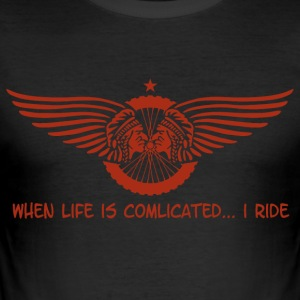 when life is complicated - Männer Slim Fit T-Shirt