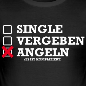 Single, vergeving, Vissen - slim fit T-shirt