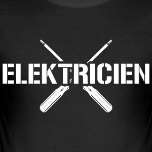 Electrician gift: electrician screwdriver - Men's Slim Fit T-Shirt