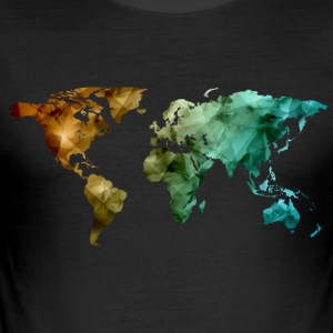 world map - Men's Slim Fit T-Shirt