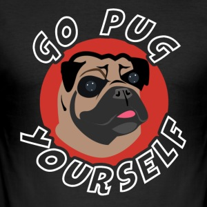 Gå PUG Yourself - Herre Slim Fit T-Shirt