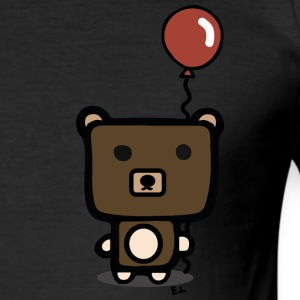 cute bear - Slim Fit T-shirt herr