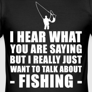 Funny Fishing Gift Ideas For Father Of Grandfather - Men's Slim Fit T-Shirt