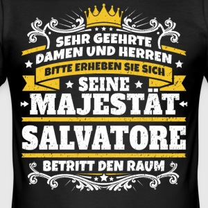 Seine Majestät Salvatore - Männer Slim Fit T-Shirt