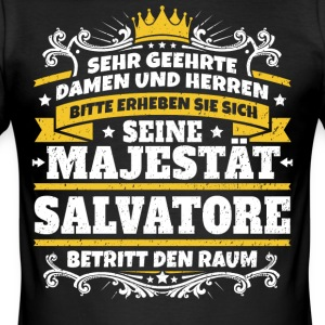 His Majesty Salvatore - Men's Slim Fit T-Shirt
