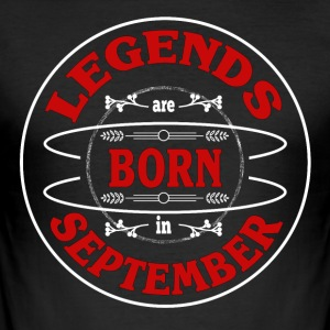 Birthday September Legends Born Gift Geb - Men's Slim Fit T-Shirt